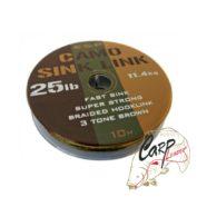 Поводковый материал ESP Camo Sink Link Brown 25lb 10m