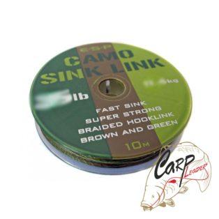 Поводковый материал ESP Camo Sink Link Green 15lb 10m