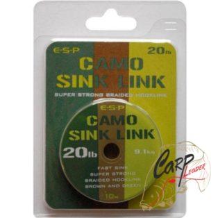 Поводковый материал ESP Camo Sink Link Green 20lb 10m