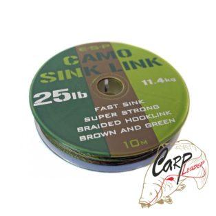 Поводковый материал ESP Camo Sink Link Green 25lb 10m
