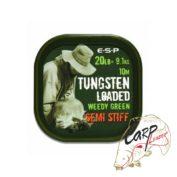 Поводковый материал ESP Tungsten Loaded 20lb Weed Stiff 10mt утяжеленный вальфрамом