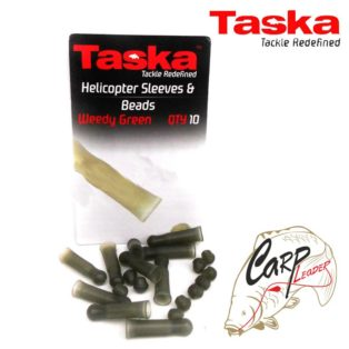 Набор акс-ров для оснастки вертолет Taska Helicopter Sleeves & Beads — Weedy Green
