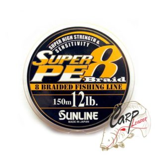 Шнур Sunline Super Braid 8 150m Orange 12lb/5.4кг