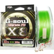 Плетенный шнур YGK G-Soul Upgrade 200m 1,0 0.165mm 22 lb