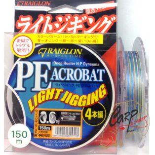 Плетёный шнур Raiglon PE Acrobat 4x-0.6 150m