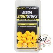 Стопор Кукуруза для карповой насадки короткий желтый Avid Carp плавающий