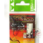 Крючок одинарный с засечками HitFish Direct Hold Single Hook 06 14 шт с большим ухом