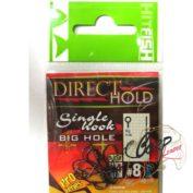 Крючок одинарный с засечками HitFish Direct Hold Single Hook 08 14 шт с большим ухом