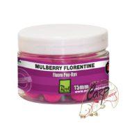 Бойлы плавающие флуор Rod Hutchinson Fluoro Pop Ups Mulberry Florentine with Protaste Plus 15mm