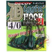 Крючок Decoy Diggin Hook Worm 21 Offset 4/0