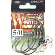 Крючок подгруженный Decoy офсетный Worm 104 5/0 4 шт.