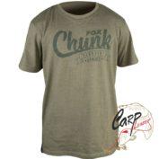 Футболка Fox Chunk Stonewash T-Shirt — Smal Marl Olive с эфектом состар. материала
