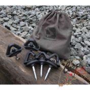 Колышки для крепления палатки к деревянным мосткам Avid Carp Screw Steady Bivvy Peg