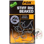 Крючки карповые Fox Edges Stiff Rig Beaked - Size 6