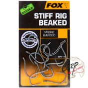Крючки карповые Fox Edges Stiff Rig Straight - Size 6