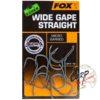 Крючки карповые Fox Edges Wide Gape Straight - 6
