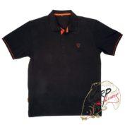 Polo Shirt Black/Orange — Medium  поло