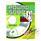 Застежка HitFish Round Snap 1 22lb/10kg 13 шт