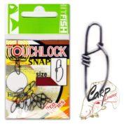 Застежка HitFish Touchlock Snap 1 60b/27kg 12 шт