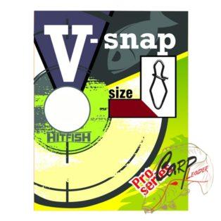 Застежка HitFish V-Snap 0 30lb/13kg 12 шт