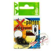 Вертлюг HitFish X-Patten Rolling Swivel 04 80lb/36kg 11 шт