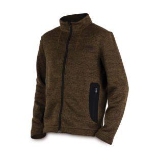 Куртка трикотажная на молнии Fox Chunk Medium Knit Cardigan - Large Khaki Marl
