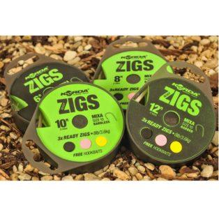 Поводок Korda Ready Zigs on spool 6 size 10