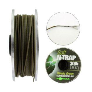 Поводковый материал Korda N Trap Soft 30 lb Green