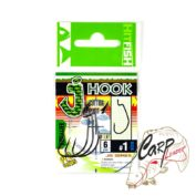 Крючок офсетный HitFish J-Hook BC 01 6 штпач