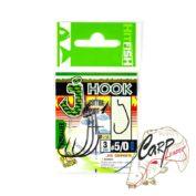 Крючок офсетный HitFish J-Hook BC 5/0 3 штпач