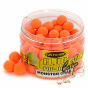 Бойлы плавающие Fun Fishing Fluo Pop Ups Orange/Monster Crabi 12mm