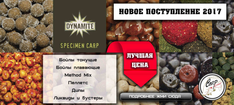 Метод миксы и бойлы Dynamite baits 2017