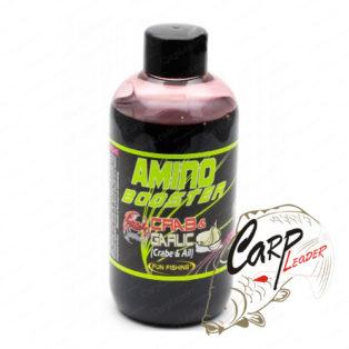 Жидкий аттрактант для прикормки Fun Fishing 200 ml Amino Booster - Crab & Garlic