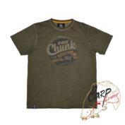 Футболка Fox Chunk Stonewash T-Shirt Marl Olive с эфектом состар. материала