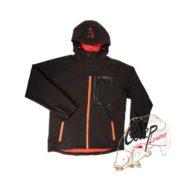 Непродуваемая куртка с капюшоном Fox Chunk Softshell Jacket Black/Orange