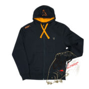 Толстовка на молнии с капюшоном Fox Chunk Black & Orange Lightweight Zipped Hoody