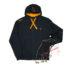 Толстовка на молнии с капюшоном Fox Chunk Black & Orange Lightweight Zipped Hoody - l