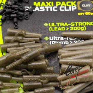 Набор безопасных клипс Fun Fishing Maxi-Pack Plastic Clip x20 — Clay