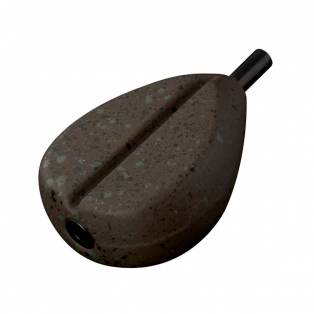 Грузило грушевидное плоское Fox Camotex In-line Flat Pear - 3.0oz - 85gm
