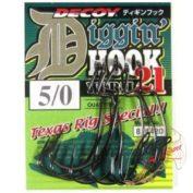 Крючок Decoy Diggin Hook Worm 21 Offset 5/0