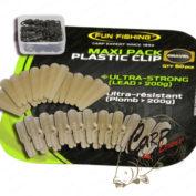 Набор безопасных клипс Fun Fishing Maxi Pack Plastic Clip Gravel 3х20 шт.