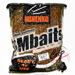 Прикормка зерновая Minenko PMbaits Big Pack Ready To Use Wild Honey Wheat окр.пшеница+стим.апп. 4кг