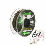 Поводковый материал Korda N Trap Semi Weedy Green 30lb 20m
