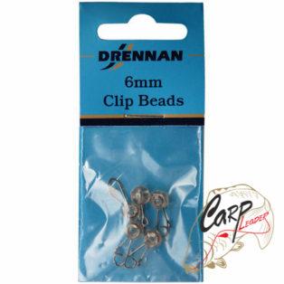 Крепеж скользящий с застежкой Drennan Clip Beads 6mm