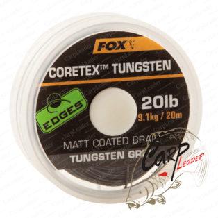 Утяжеленный поводковый материал в защитной оболочке Fox Edges Tungsten Coretex 35lb
