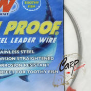 Поводковый материал AFW ToothProof Stainless Steel Single Strand Leader Bright 17 кг 9.2 м.