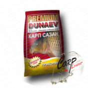 Прикормка Dunaev Premium 1 кг. Карп-Сазан Клубника