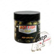 Бойлы плав. Dynamite Baits 15 мм. Hot Fish & GLM Food Bait Pop-Up