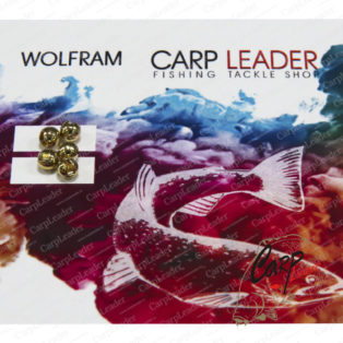 Головки вольфрамовые CarpLeader с вырезом Gold 3,5 мм. 0,3 гр. 5 шт