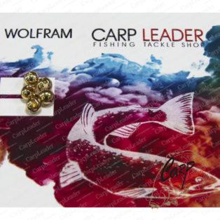 Головки вольфрамовые CarpLeader с вырезом Gold 4,0 мм. 0,5 гр. 5 шт